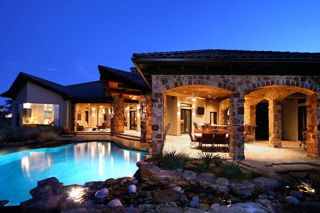 stone pool home house interior wallpaper