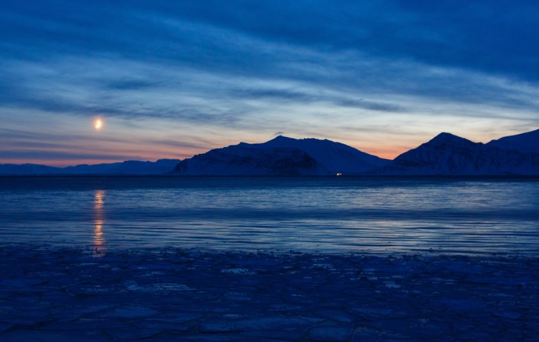 Svalbard Norway Arctic Ocean wallpaper