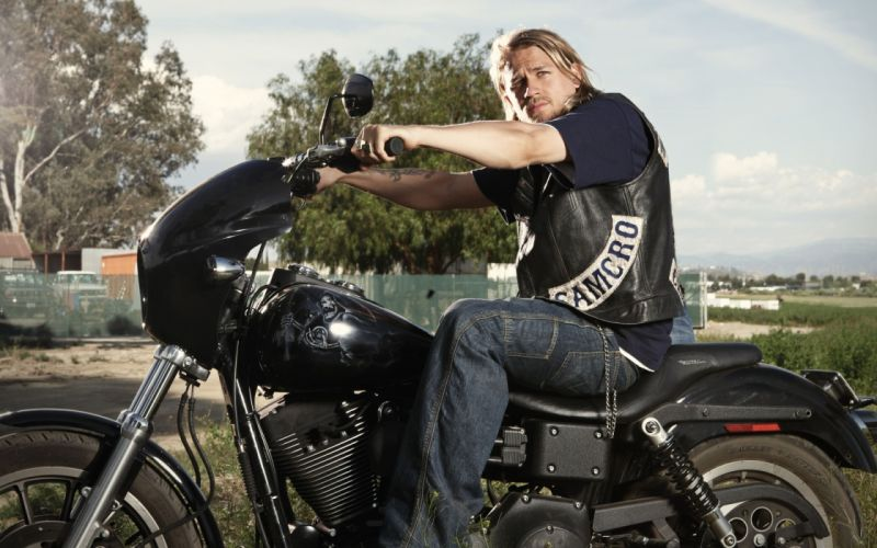 Sons of Anarchy Men Charlie Hunnam Movies Motorcycles wallpaper