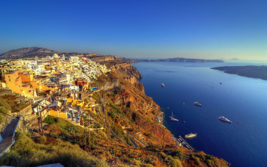 Santorini Greece wallpaper