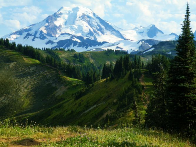 Scenery Mountains USA Baker-Snoqualmie National Forest Nature wallpaper