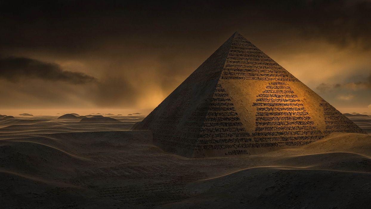 Pyramid Desert Wallpaper