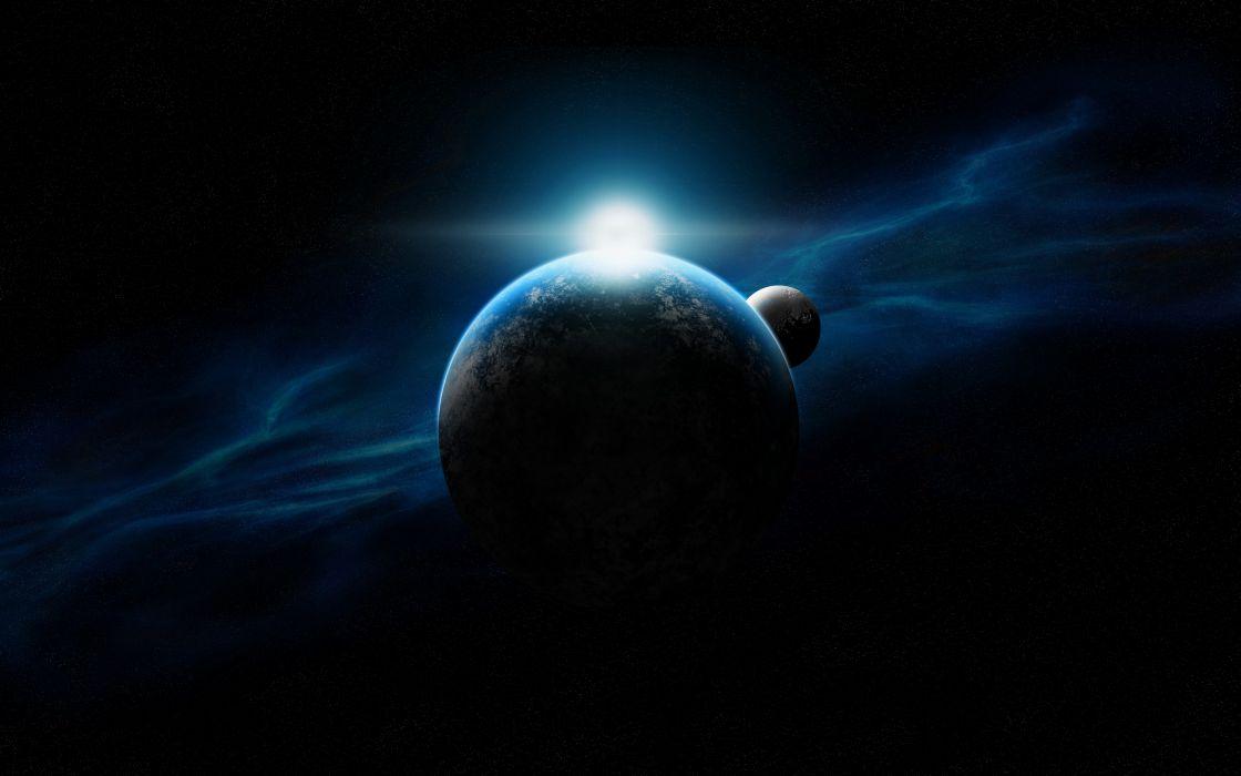 planet art space stars wallpaper