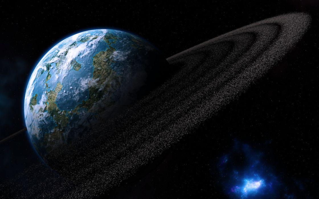 meteorites planets asteroids rocks sci fi wallpaper