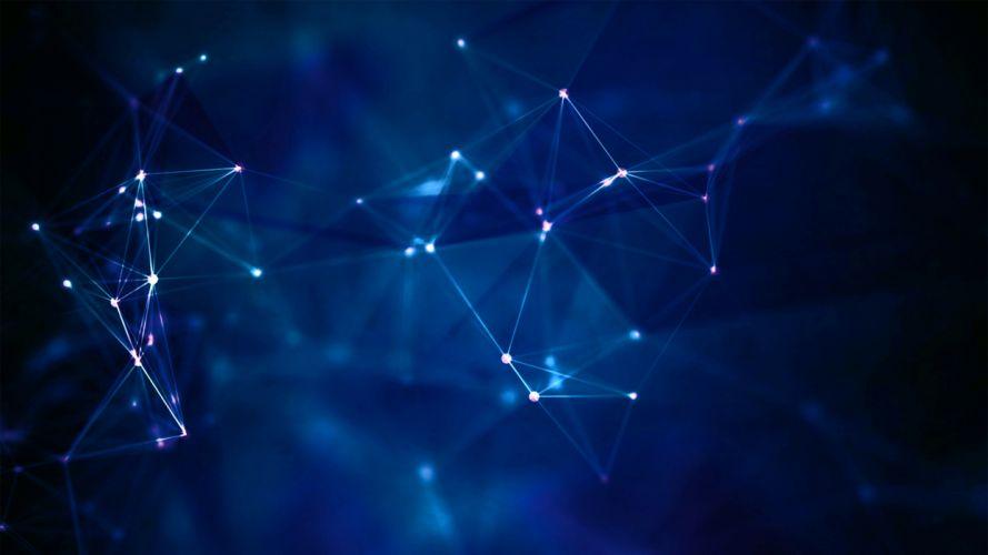 Molecules glare communication wallpaper