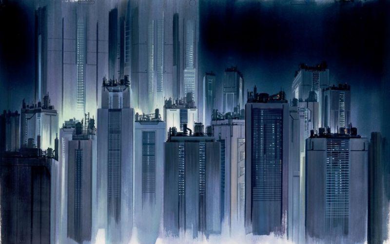 Buildings Skyscrapers Drawing wallpaper
