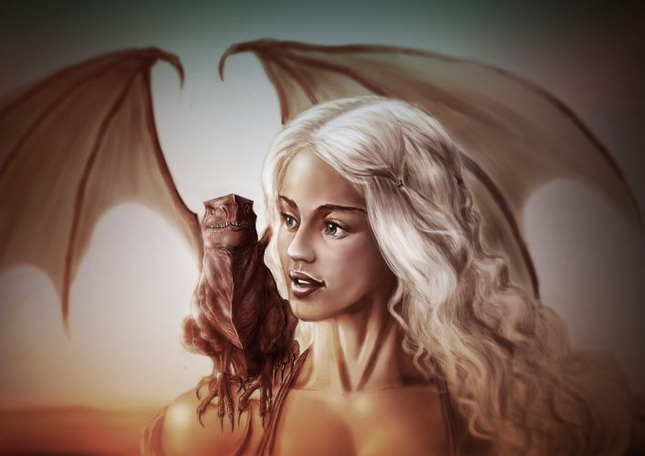 daenerys targaryen art game of thrones game of thrones emilia clarke wallpaper