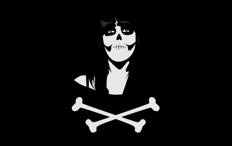 Dia De Los Muertos Day of the Dead Skull Crossbones wallpaper
