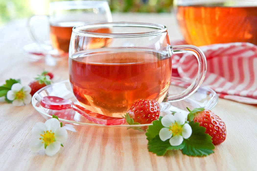 Drinks Tea Strawberry Cup Food wallpaper