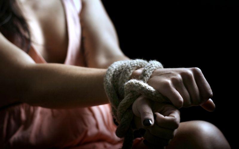 girl hands rope dark mood fetish wallpaper