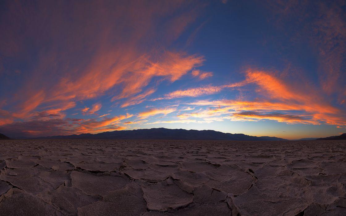 Ground Cracked Sunset Landscape wallpaper | 1920x1200 ...