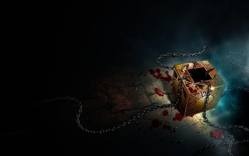 Hellraiser Box Cube Blood Chains wallpaper