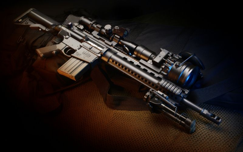weapon m4 gun automatic carbine wallpaper