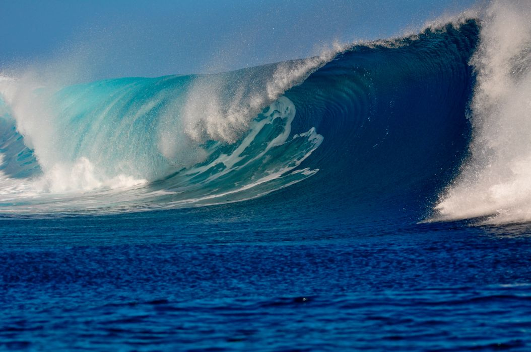 Waves Sea Water Spray Natur wallpaper