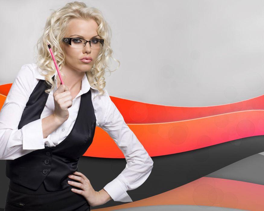 Asdis Ran Formal shirt Glasses Girls wallpaper