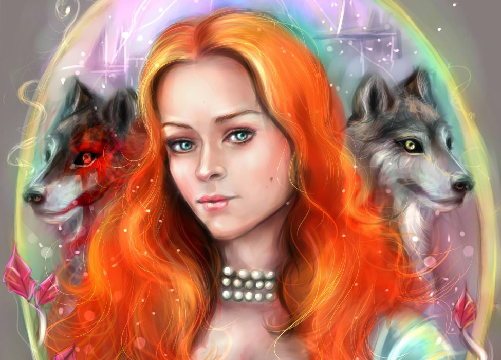 Game of Thrones Wolves Redhead girl Hair Movies Girls wallpaper