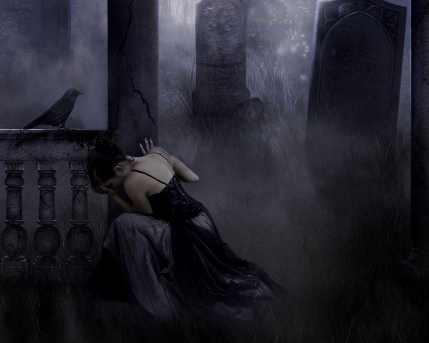 Gothic Fantasy Girls dark wallpaper