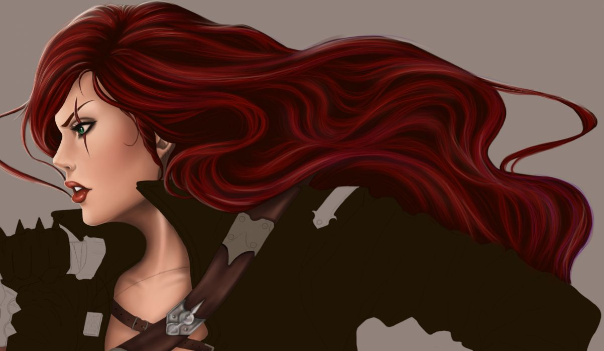 League of Legends katarina Redhead girl Hair Games Girls wallpaper
