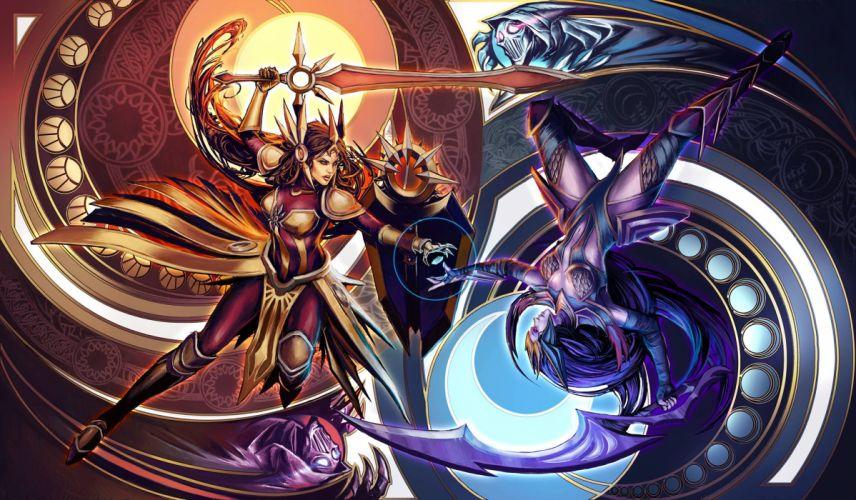 League of Legends Diana fantasy h wallpaper