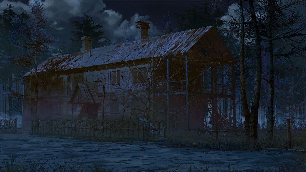 original arsenixc building clouds dark jpeg artifacts night nobody original scenic sky tree wallpaper