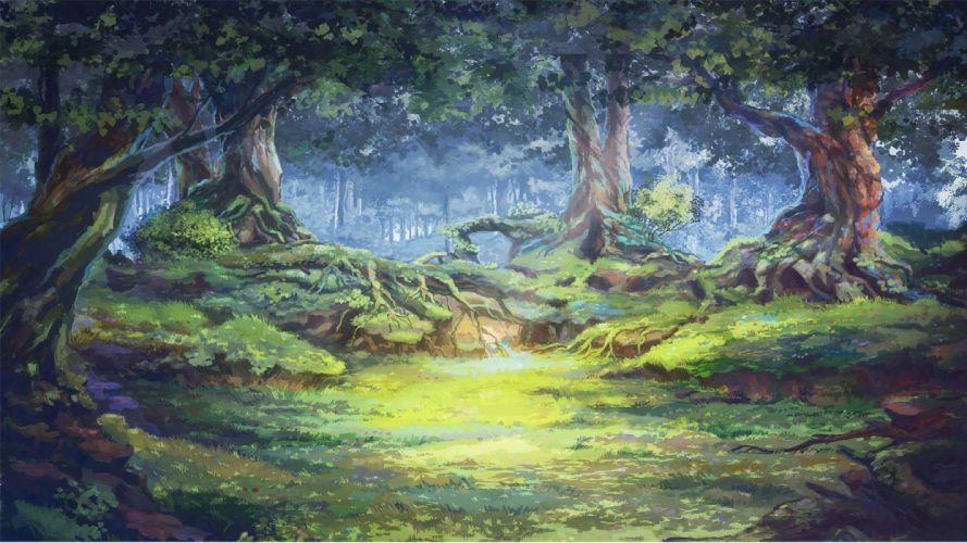 original arsenixc forest grass jpeg artifacts nobody original scenic tree wallpaper