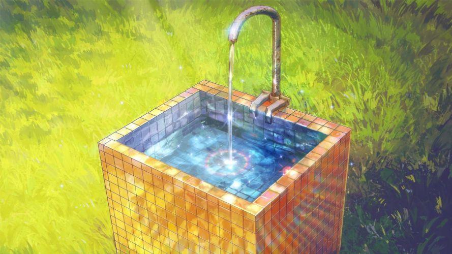 original arsenixc grass jpeg artifacts nobody original scenic water wallpaper