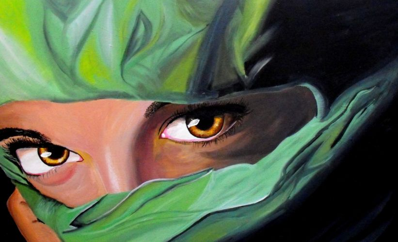 Painting Art Eyes Glance Girls wallpaper