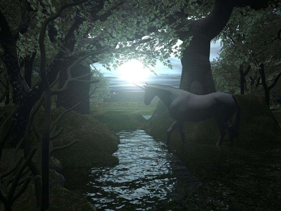 unicorn horse magical animal    rw wallpaper