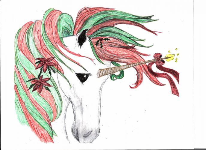 unicorn horse magical animal christmas v wallpaper