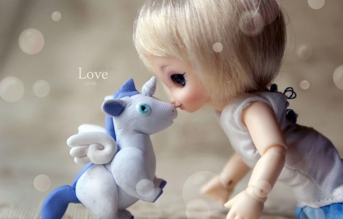 unicorn horse magical animal doll toy love mood bokeh     j wallpaper