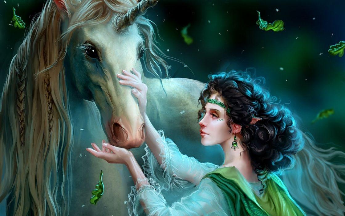unicorn horse magical animal elf     g wallpaper