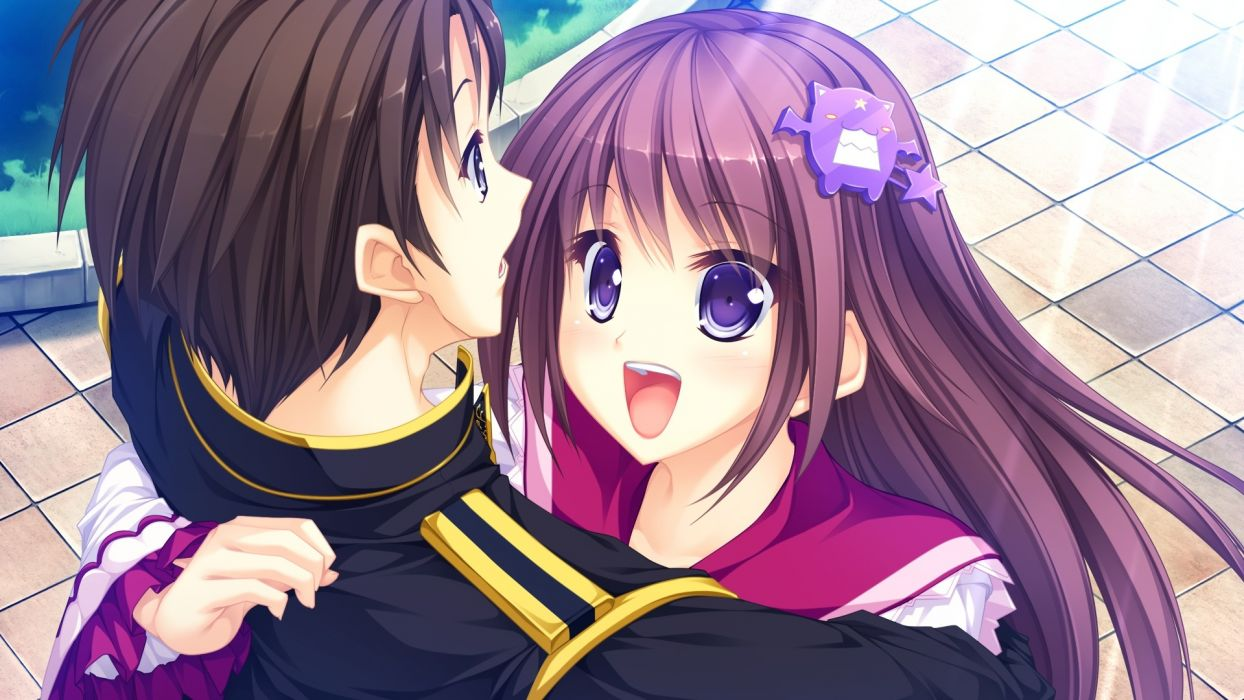 usotsuki ouji to nayameru ohime-sama e arisu seiko brown hair game cg long hair purple eyes tenmaso usotsuki ouji to nayameru ohime-sama whirlpool wallpaper