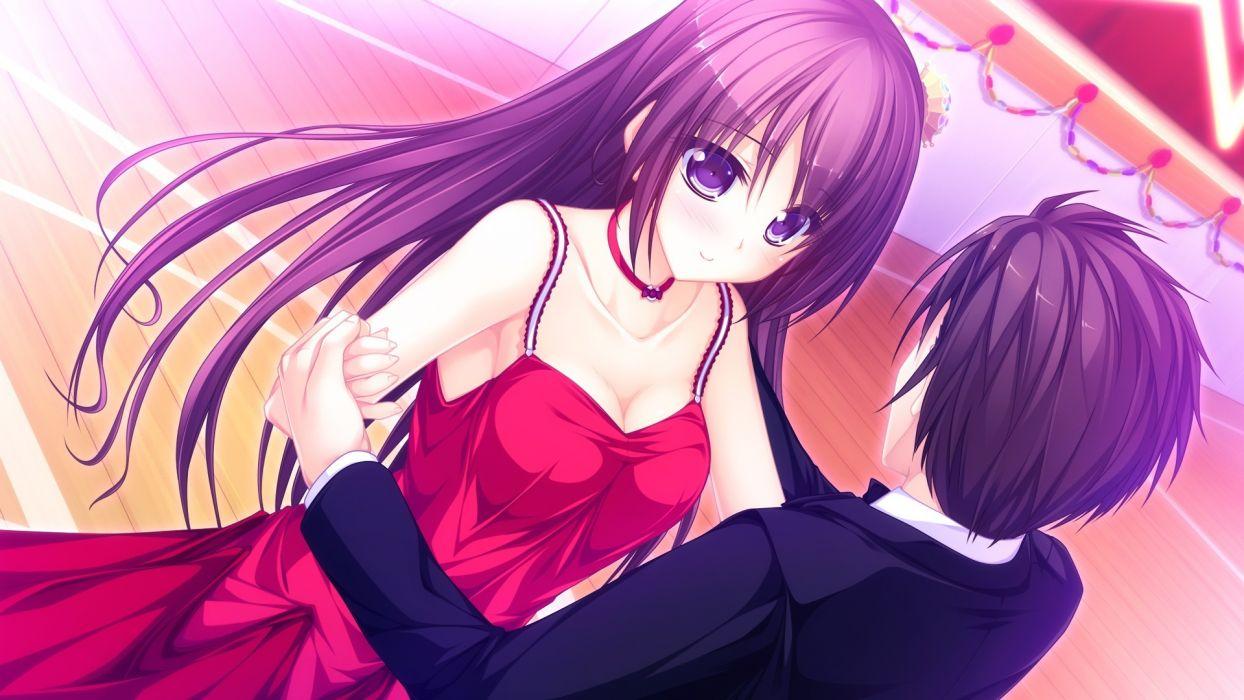 usotsuki ouji to nayameru ohime-sama arisu seiko brown hair dress game cg long hair necklace purple eyes tenmaso usotsuki ouji to nayameru ohime-sama whirlpool wallpaper