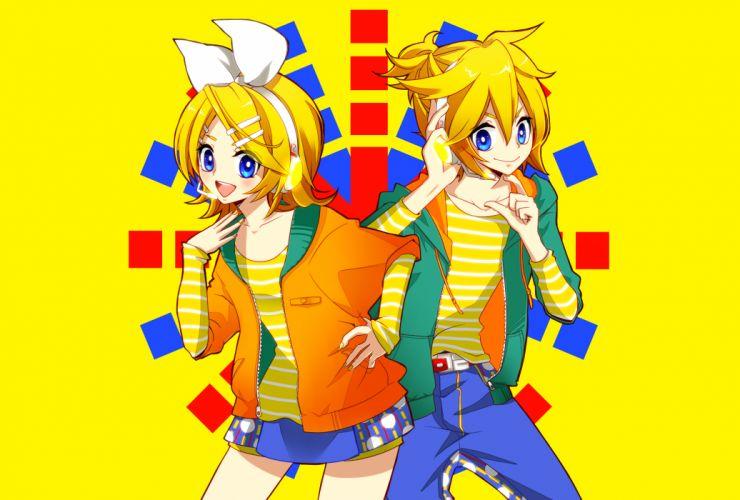 Vocaloid Kagamine Mirrors gg wallpaper
