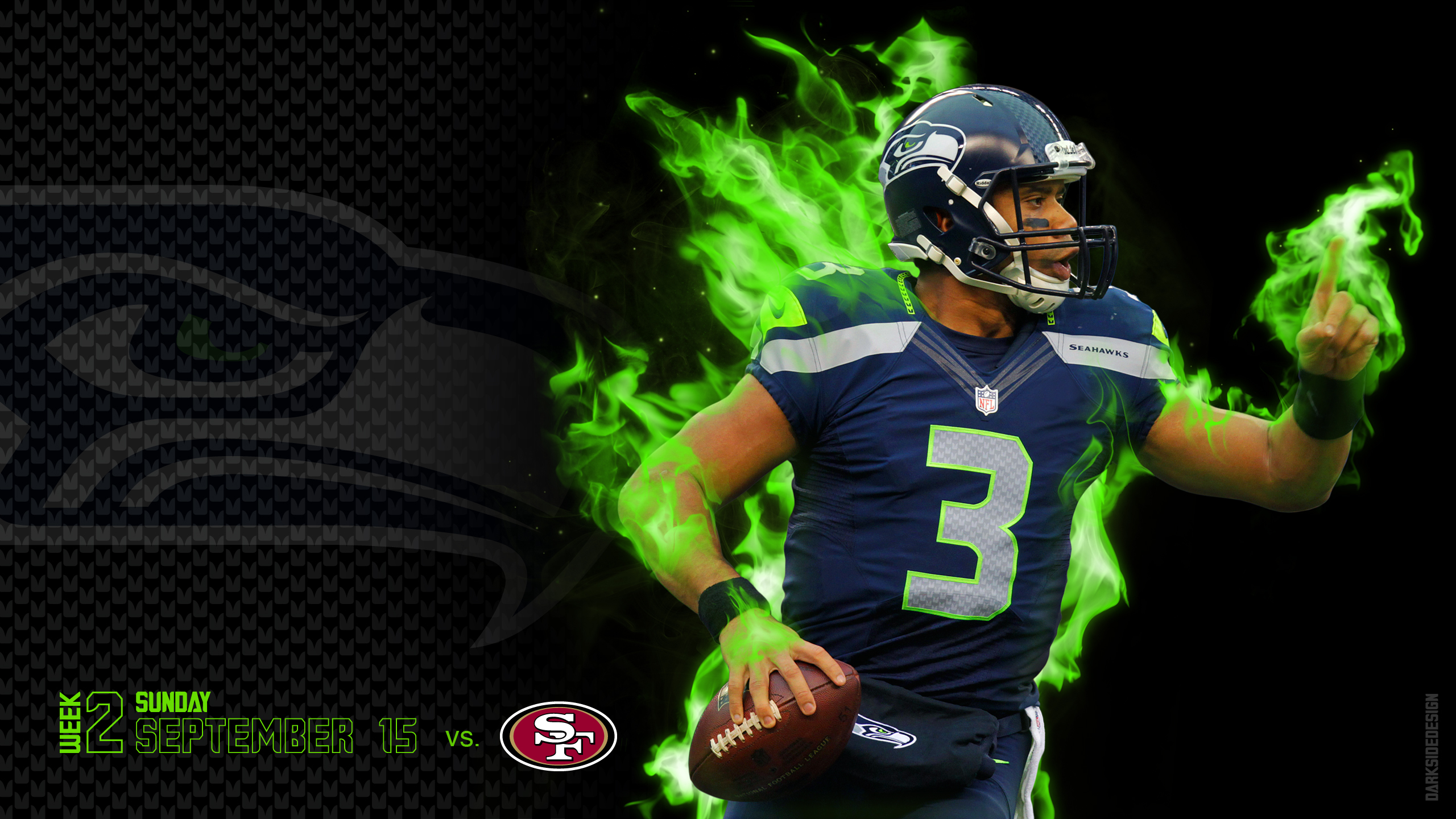 SEATTLE SEAHAWKS football nfl eu wallpaper | 2560x1440 | 172596