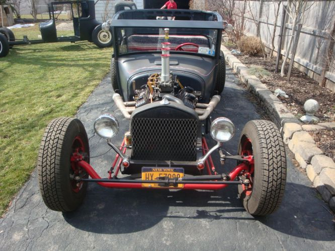 1927 Ford Model-T Coupe ratrod hot rod rods retro engine e wallpaper