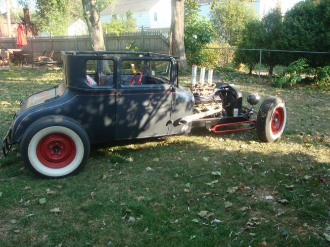 1927 Ford Model-T Coupe ratrod hot rod rods retro engine g wallpaper