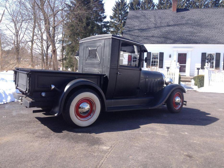 1928 Model-A Ford pickup hot rod rods retro   r wallpaper