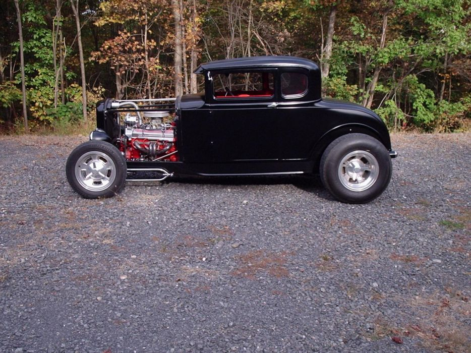 1930 Ford Coupe hot rod rods retr engine       g wallpaper