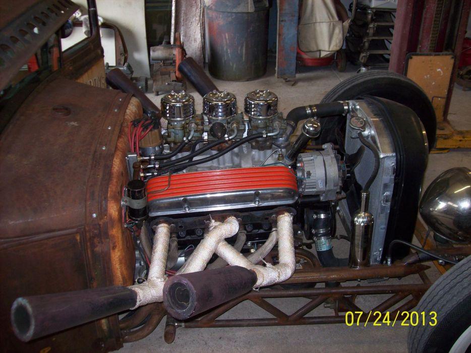 1930 Ford Model-A hot rod rods retro ratrod engine     h wallpaper