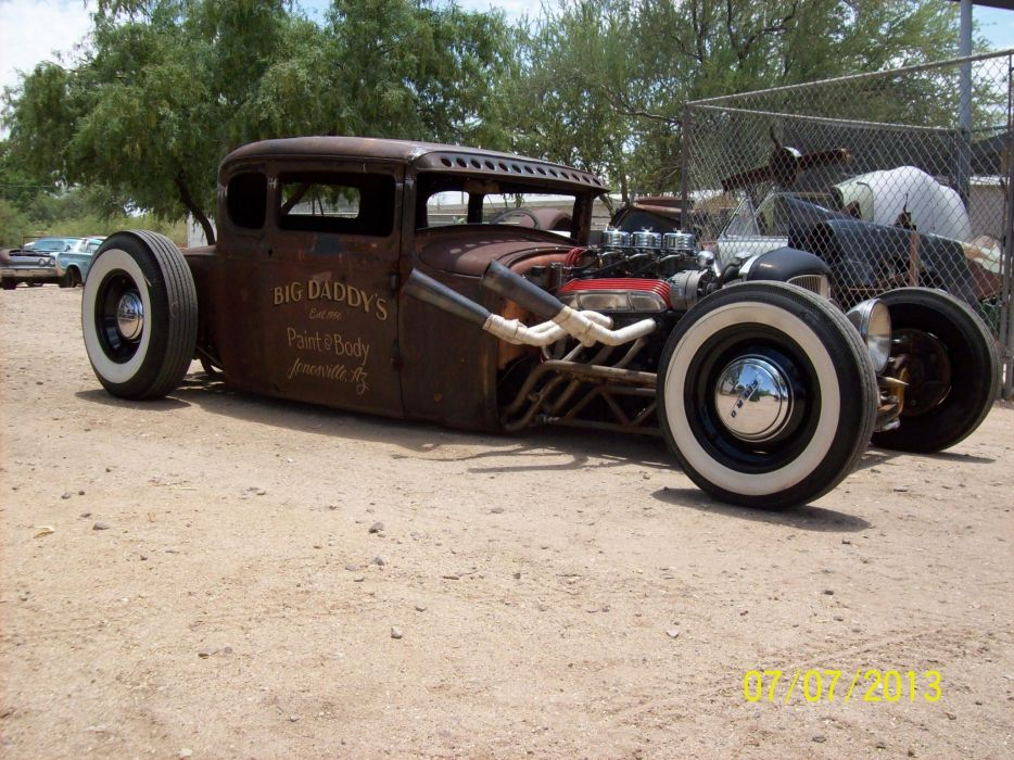 1930 Ford Model-A hot rod rods retro ratrod    k wallpaper