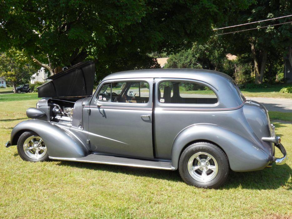 1937 Chevrolet hot rod rods retro    g wallpaper