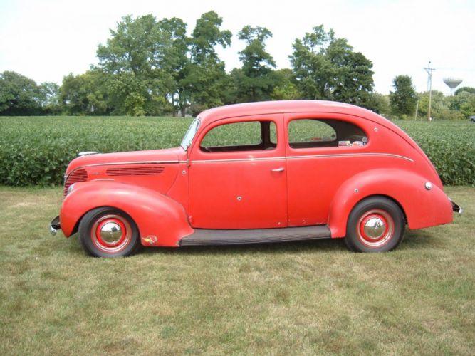 1938 ford DELUXE hot rod rods custom retro lowrider r wallpaper
