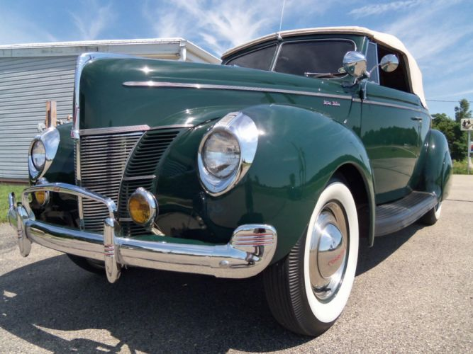 1940 Ford Deluxe Convertible retro t wallpaper