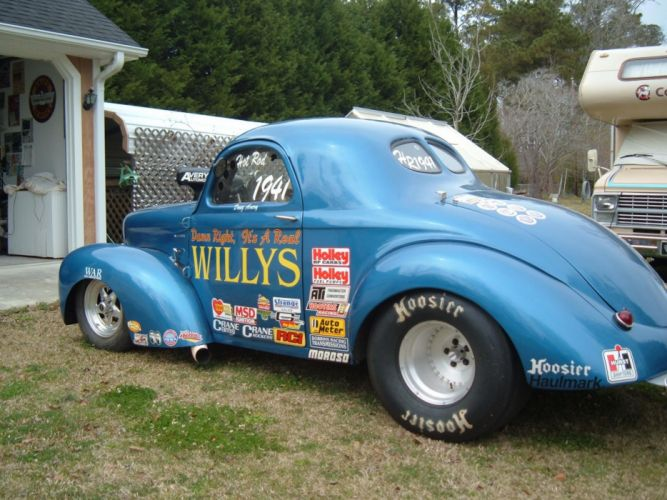 1941 willys hot rod rods drag racing race retro t wallpaper