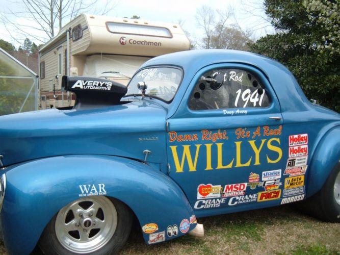 1941 willys hot rod rods drag racing race retro k wallpaper