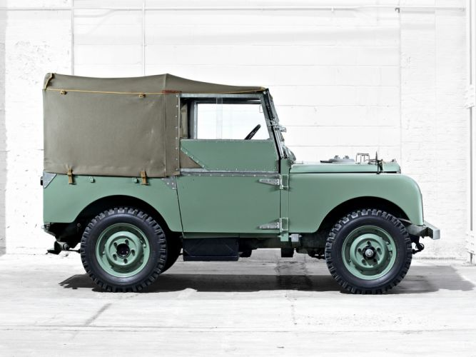 1948 Land Rover Series-I80 SoftTop 4x4 offroad retro military f wallpaper