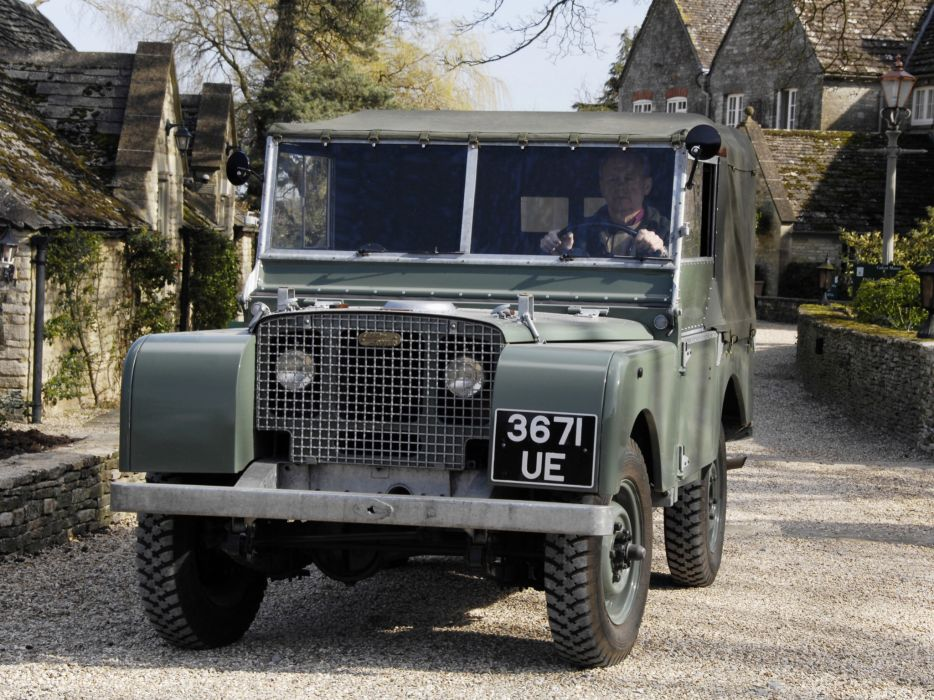 1948 Land Rover Series-I80 SoftTop 4x4 offroad retro military g wallpaper