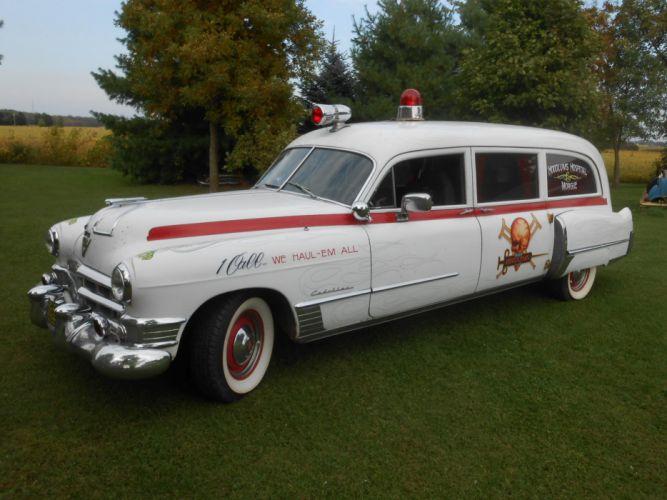 1949 Cadillac ambulance stationwagon retro custom g wallpaper