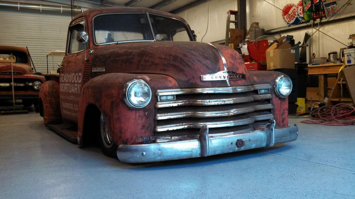 1950 Chevrolet hot rod rods retro pickup retro lowrider   r wallpaper